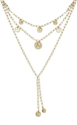Ettika Layered Coin Lariat Necklace
