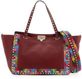 Valentino Rockstud Rolling Embroidered Tote Bag