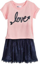 Epic Threads Love Lace-Skirt Dress, Little Girls, Created for Macy's