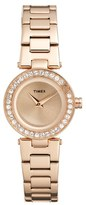 Timex 'Starlight' Crystal Bezel Bracelet Watch, 24mm