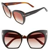 Tom Ford Women's Samantha 55Mm Sunglasses - Black/ Bordeaux Mirror