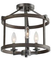 Lnc LNC 3-Light Farmhouse Foyer Lantern Double Layers Semi-flush Mount Lig