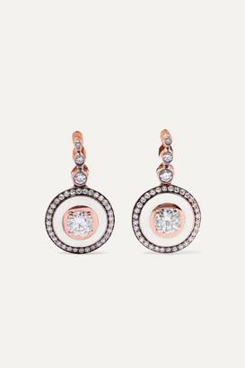 Selim Mouzannar 18-karat Rose Gold, Enamel And Diamond Earrings