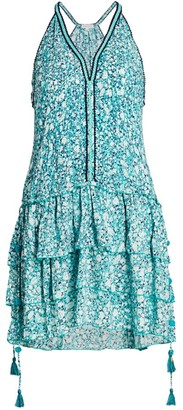 Poupette St Barth Bety Printed Tiered Dress