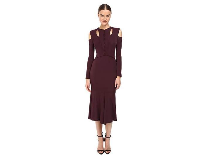 Yigal Azrouel Stella Cold Shoulder Matte Jersey Dress Women's Dress