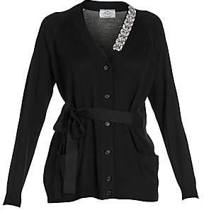 Prada Women's Lana Belted Virgin Wool Cardigan