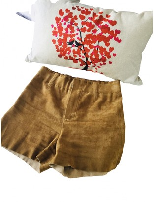 STOULS Brown Suede Shorts