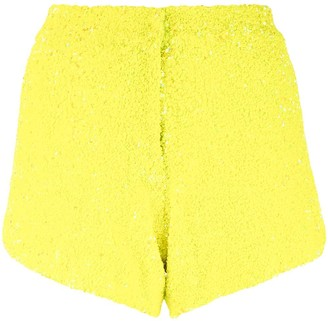 Manish Arora High-Rise Sequin-Embroidered Shorts