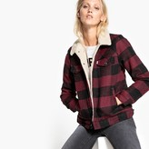 Levi's Checked Wool Blend Aviator Shearling Jacket