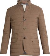 Brunello Cucinelli Stand-collar quilted blazer