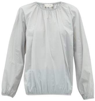 The Row Rain Elasticated Edge Shell Blouse - Womens - Grey