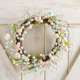 "Pier 1 Imports Pink & Blue Beaded Easter Egg 18"" Wreath"