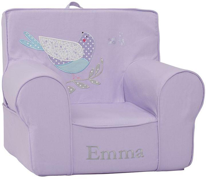 Pottery Barn Kids Lavender Bird Applique Anywhere Chair