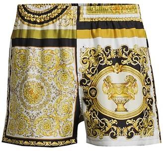 Versace Printed Silk Pajama Shorts