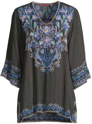 Johnny Was Winkle Floral Embroidered Tunic