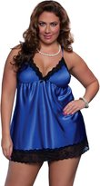 Seven Til Midnight SEVEN 'TIL MIDNIGHT Women's Plus Size Enchanting Babydoll and Thong