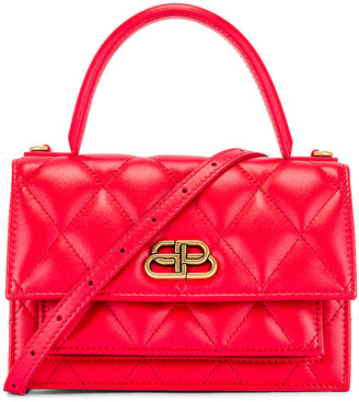 Balenciaga XS Quilted Leather Sharp Bag in Bright Red | FWRD