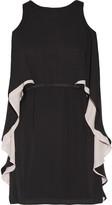 Halston Cape-effect Chiffon Mini Dress