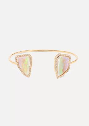 Kimberly 18-karat Rose Gold, Opal And Diamond Cuff
