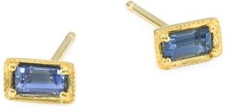 Ila Leone 14K Yellow Gold Blue Sapphire Earrings