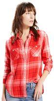 Levi's Women's Workwear Plaid Button-Down Shirt