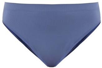 Hanro Touch Feeling Ribbed Midi Briefs - Blue