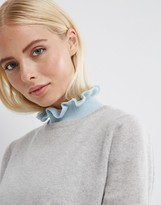 Asos Ruffle Neck Knit Bib