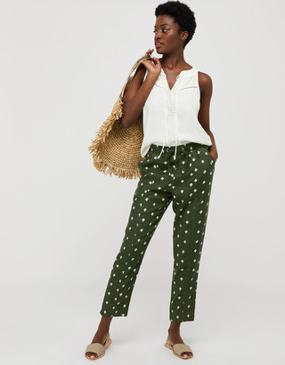 Under Armour Francine Floral Joggers in Pure Linen Green