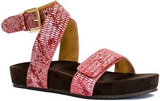 Swell REVITALIGN Women's Suede Leather Adjustable Sandal 11 Tibetan Red Lizard