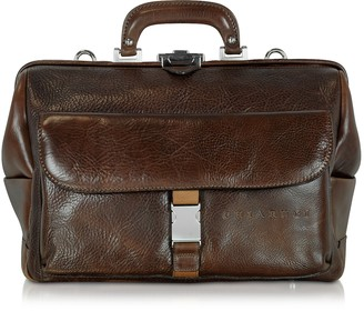 Chiarugi Large Brown Hammered Leather Doctor Bag