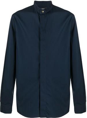 Giorgio Armani Cotton Mandarin Collar Shirt