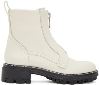 Rag & Bone Off-White Shiloh Zip Boots