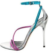 Brian Atwood Snakeskin Crossover Sandals w/ Tags