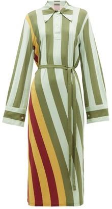 J.W.Anderson Striped Polo-neck Midi Dress - Multi
