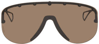 Gucci Black Studded Mask Sunglasses