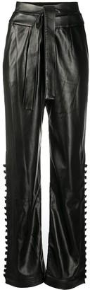 MATÉRIEL Faux-Leather Straight Trousers