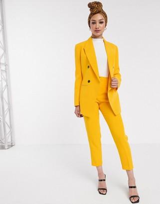 Asos DESIGN pop slim suit pants in yellow