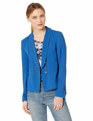Jack by BB Dakota Womens take The reins Medium Crepe Blazer w/Crest Buttons
