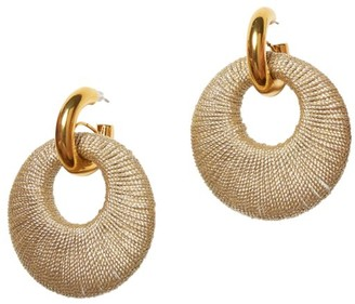 Lizzie Fortunato Orb 18K Goldplated Handwoven Coil Link Earrings