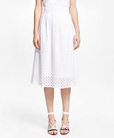 Brooks Brothers Cotton Eyelet Skirt