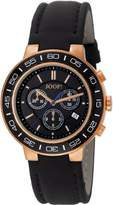 JOOP! Joop Insight Men's Quartz Watch with Black Dial Chronograph Display and Black Leather Strap JP100911F07