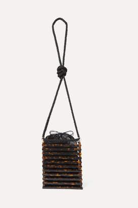 Montunas Vanda Tortoiseshell Acetate Shoulder Bag - Brown