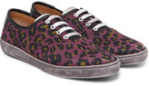 Marc Jacobs Lenny Leather-Trimmed Leopard-Print Canvas Sneakers
