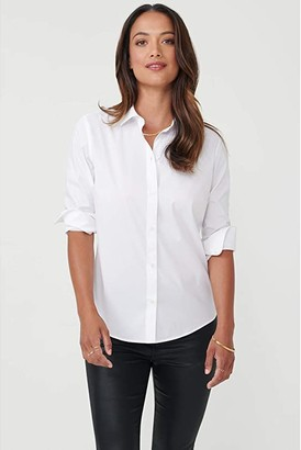 UNTUCKit Bella No Iron Stretch Button-Up Blouse (Black) Women's Clothing