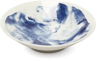 1882 X Faye Toogood - Indigo Storm Medium Earthenware Serving Bowl - Blue White