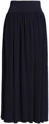 Gentryportofino Gathered Ribbed-knit Maxi Skirt
