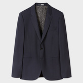 Men's Mid-Fit Navy Buggy-Lined 'Endurance' Wool-Blend Cycling Suit Blazer
