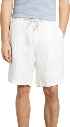 Bugatchi Solid Linen Shorts