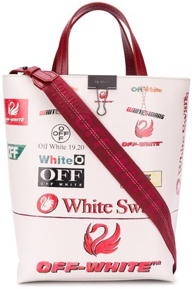 Off-White Off White Swans-print tote
