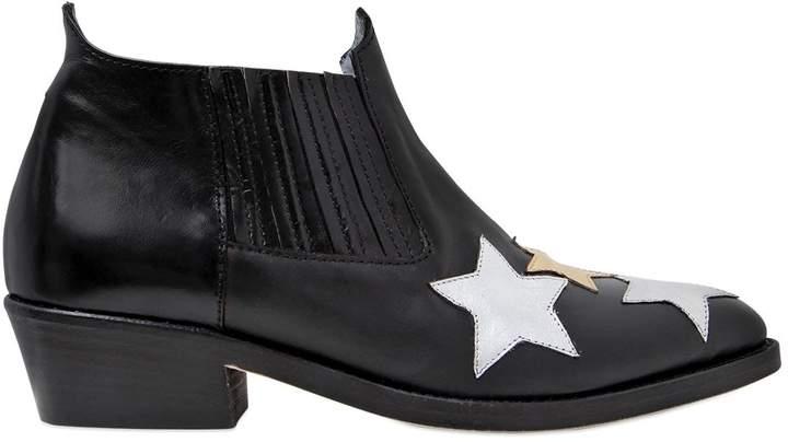Chiara Ferragni 30mm Stars Leather Ankle Boots
